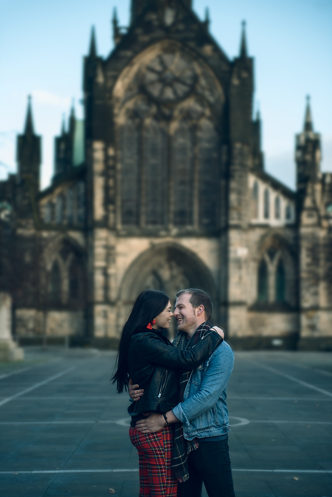 couples shooting in Glasgow Scotland