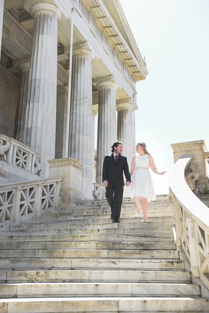 Couples photography in National Library of Greece - Athens