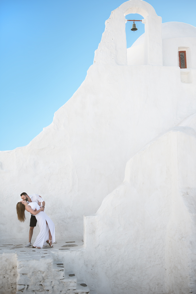 Pre wedding photography in Mykonos greek island