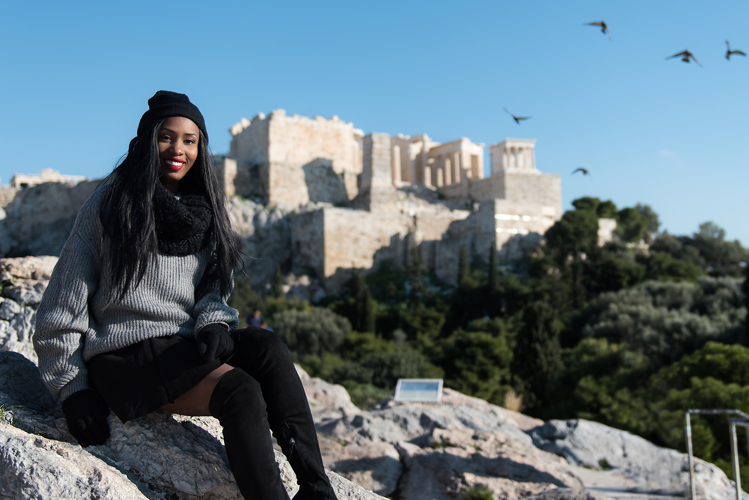 Portrait photoshoot in Acropolis Athens